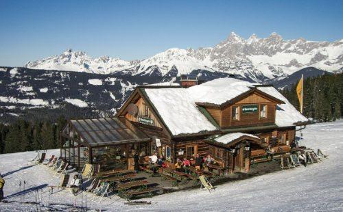 Skihütte Unterbergalm im Skigebiet Fageralm - Vorderfager/Forstau